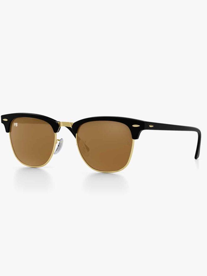 clubmaster zonnebril brown pillenbrillen