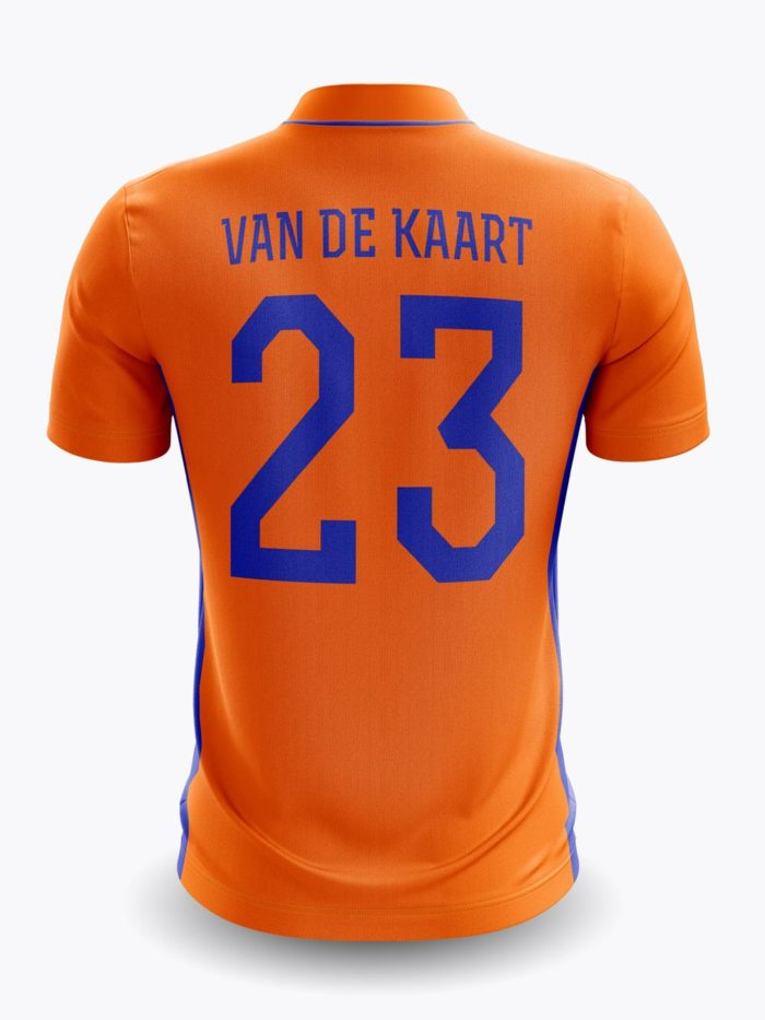 van de kaart shirt back