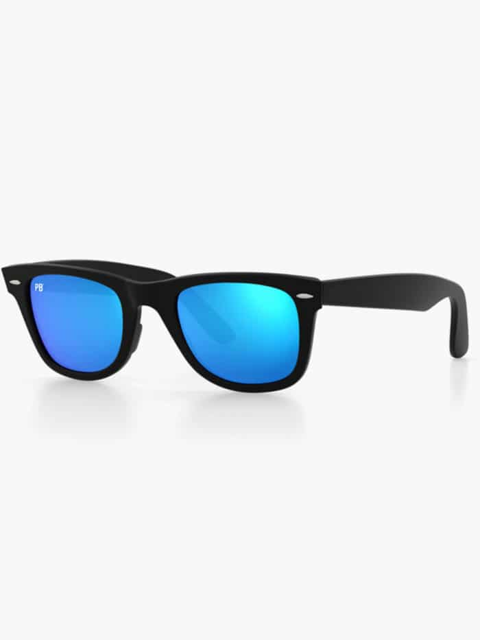 wayfarer matte blue flash