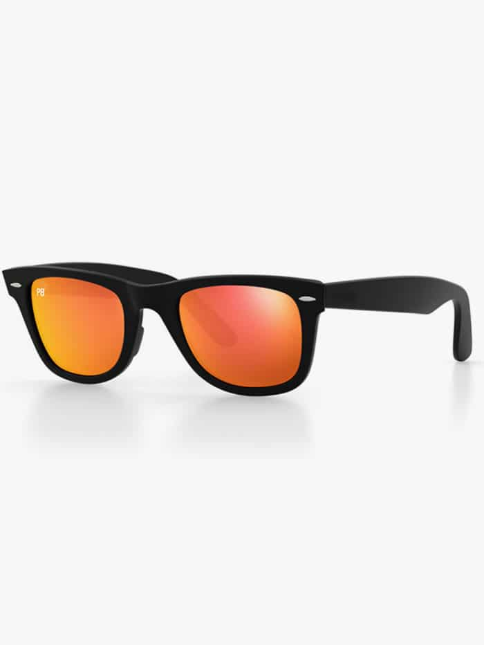 wayfarer orange flash pillenbrillen