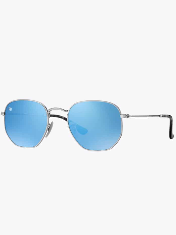 zeshoek zonnebril lichtblauw