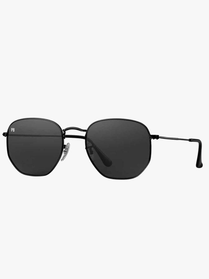 zeshoek zonnebril zwart