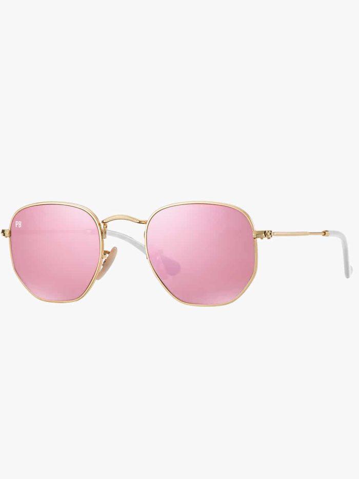 zeshoek zonnebril roze