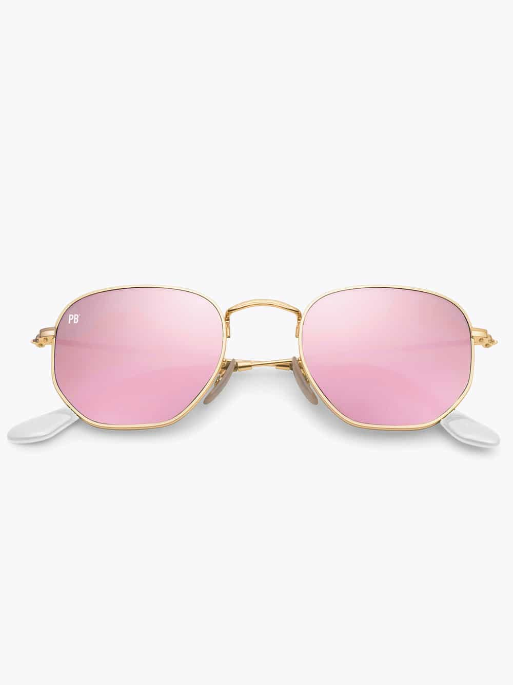 zeshoek-zonnebril-roze