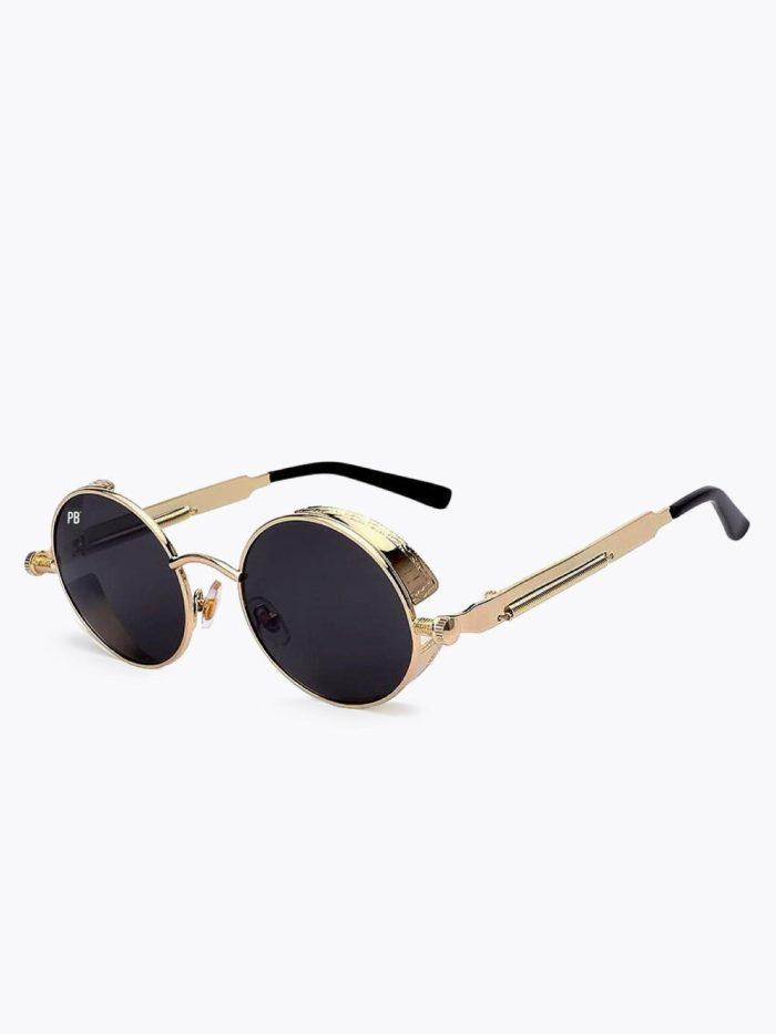 Ronde steampunk zonnebril