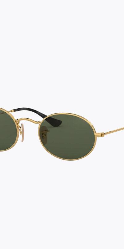 vintage ovale zonnebril