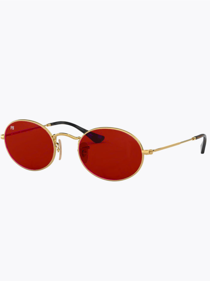 Ovale zonnebril vintage rood