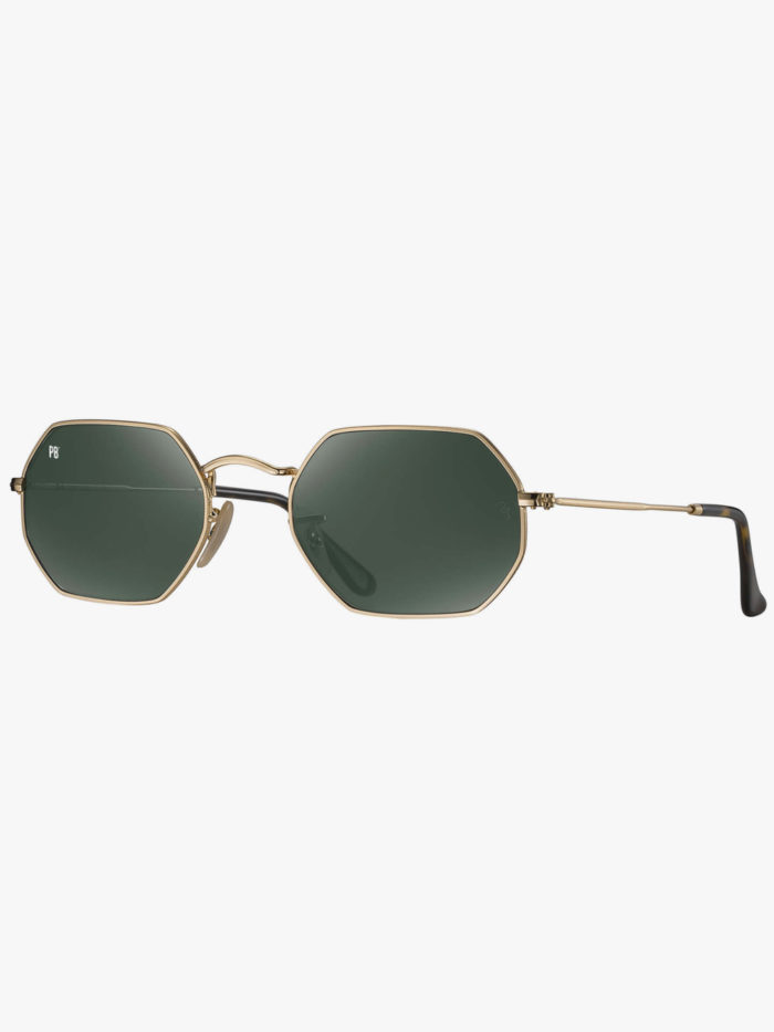 Octagonal zonnnebril goedkoop