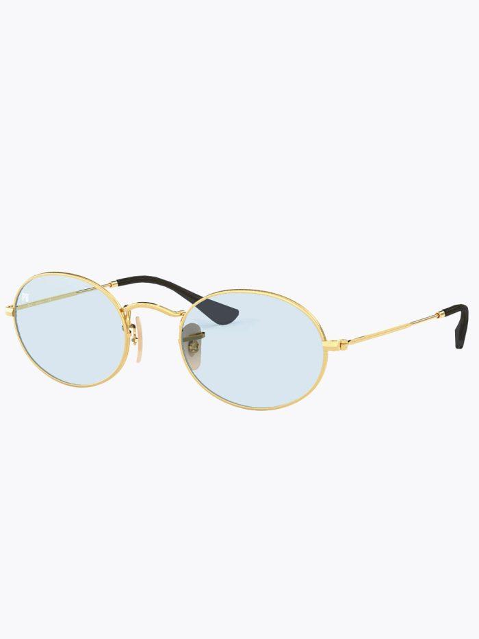 Oval zonnebril lichtblauw